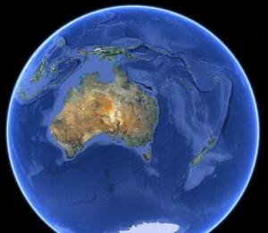 באדיבות גוגל EARTH  אוקיאניה
